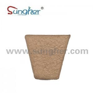Paper Pulp Plant Pot – 8cm Square