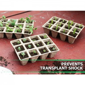 Paper Pulp Plant Tray – 3X4 Square Tray