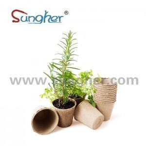 Paper Pulp Plant Pot – 8cm Round