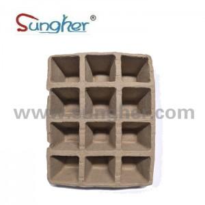 Paper Pulp Plant Tray – 3X4 Square Tray (big)