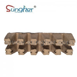 Paper Pulp Plant Tray – 2X6 Square Tray