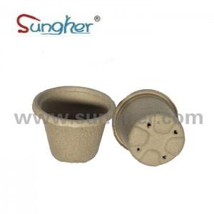 Paper Pulp Plant Pot – 11cm Round