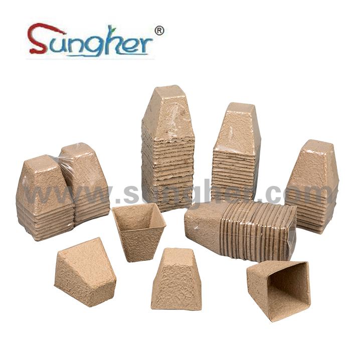 Paper Pulp Plant Pot – 8cm Square Featured Image