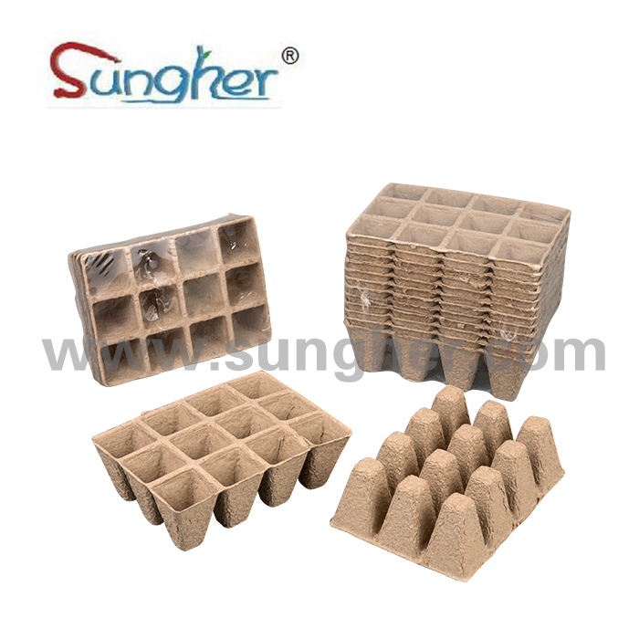Paper Pulp Plant Tray – 3X4 Square Tray Featured Image