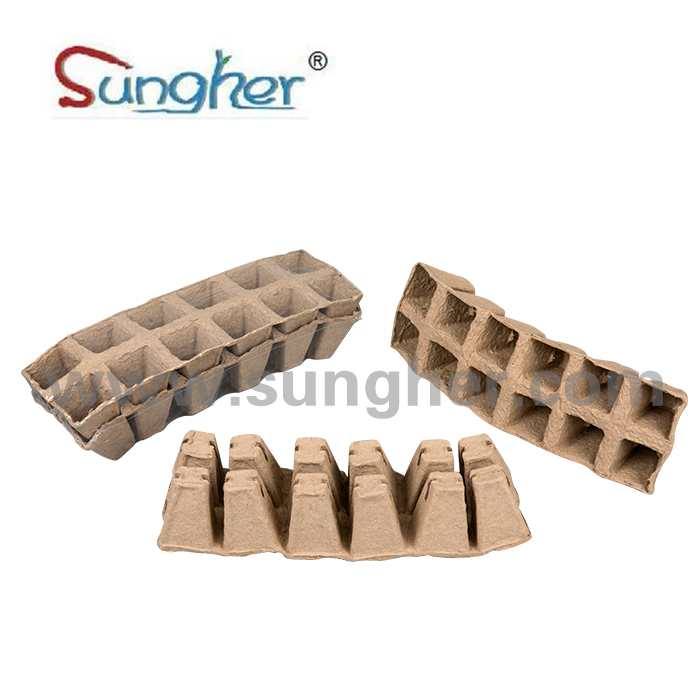 Paper Pulp Plant Tray – 2X6 Square Tray Featured Image